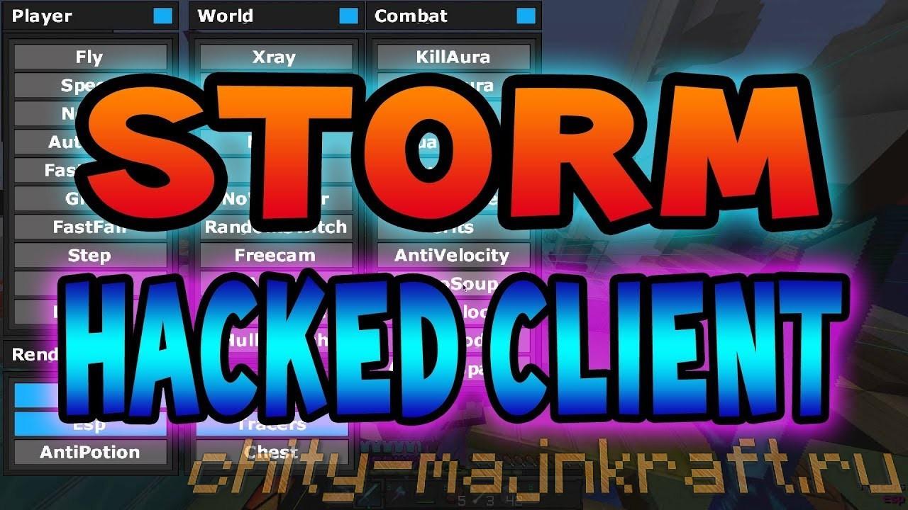 Чит клиент Storm на Майнкрафт 1.8