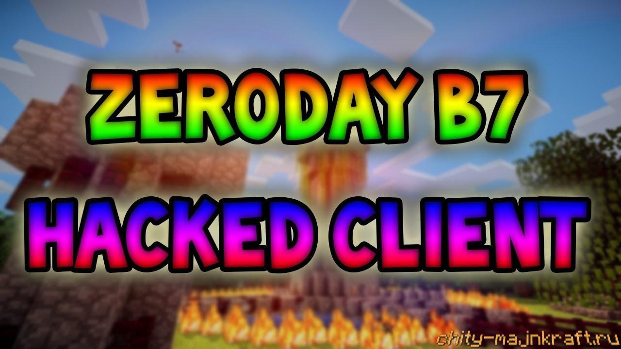 Чит клиент ZeroDay на Майнкрафт 1.8
