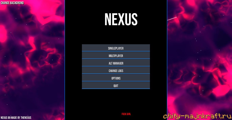 Главное меню чита Nexus