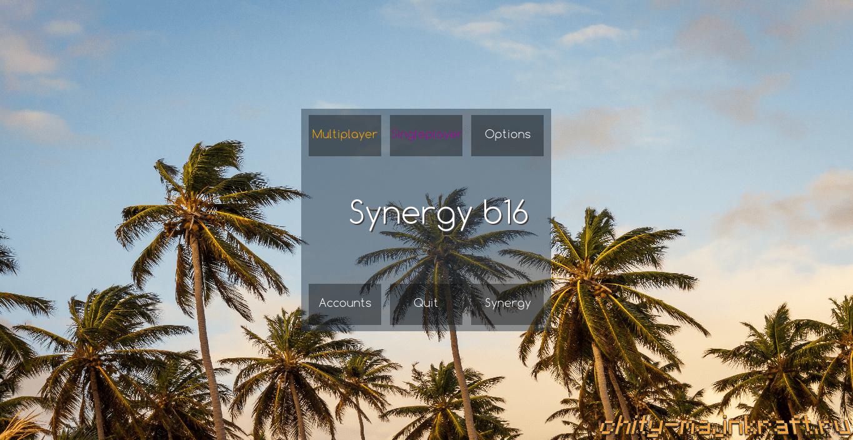 Главное меню в чите Synergy
