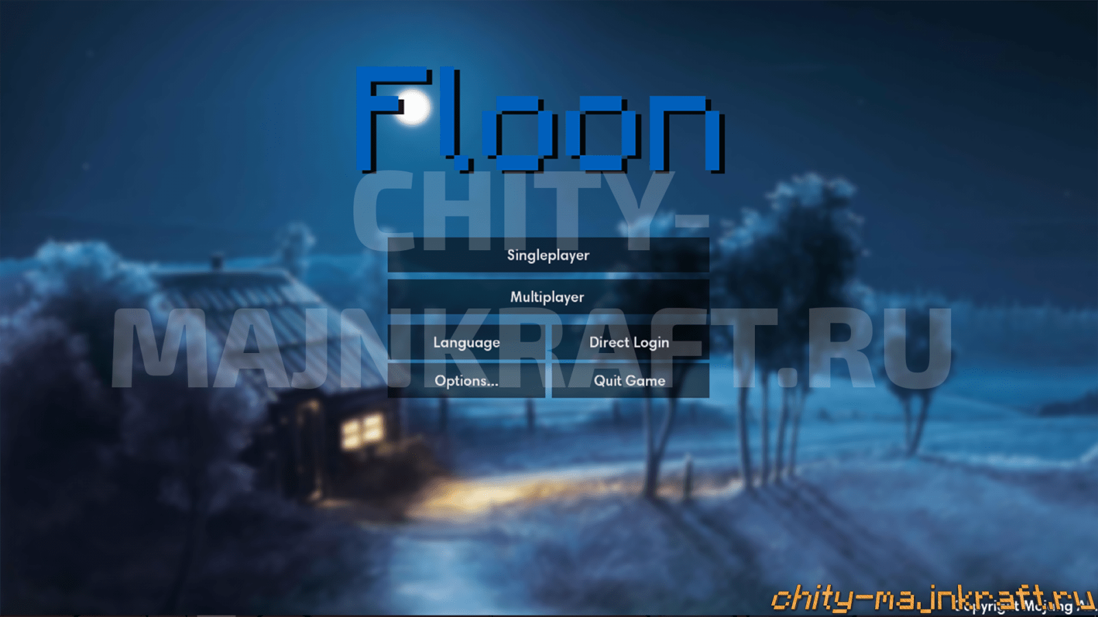 Главное меню в чите Floon