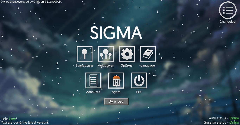 Чит Sigma 4.14 для Майнкрафт 1.8