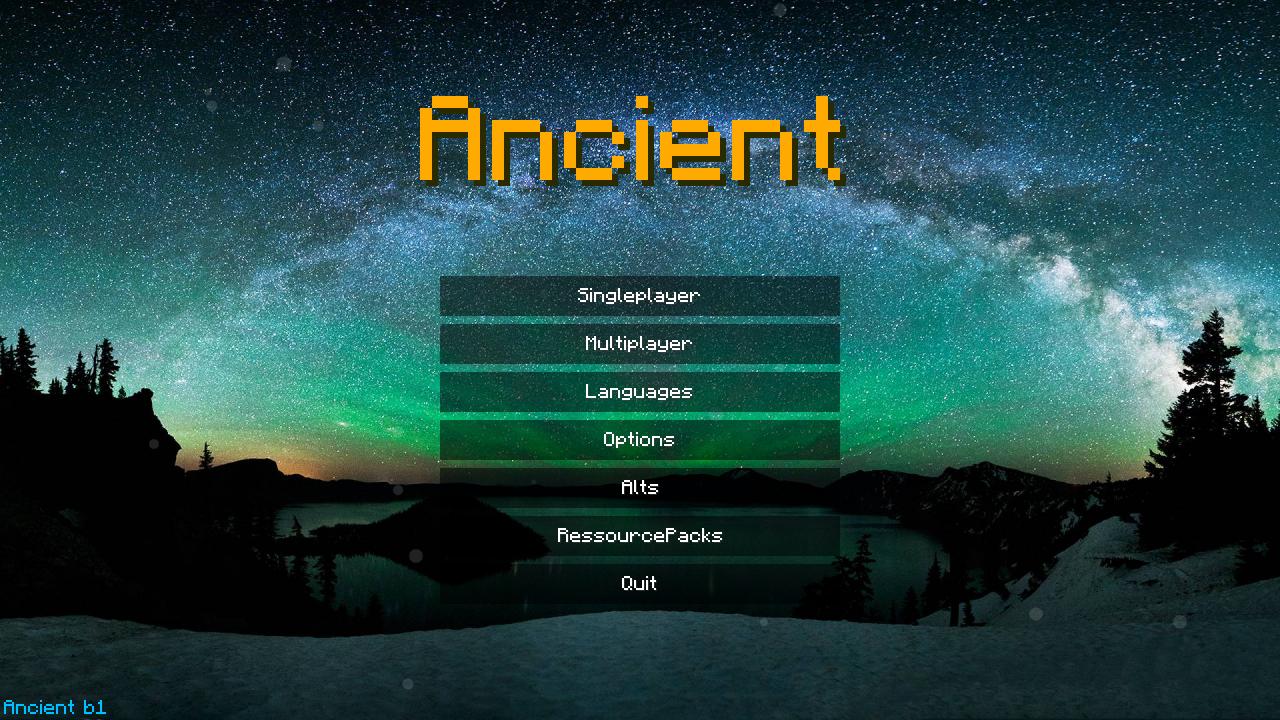 Чит Ancient b1 на Майнкрафт 1.8
