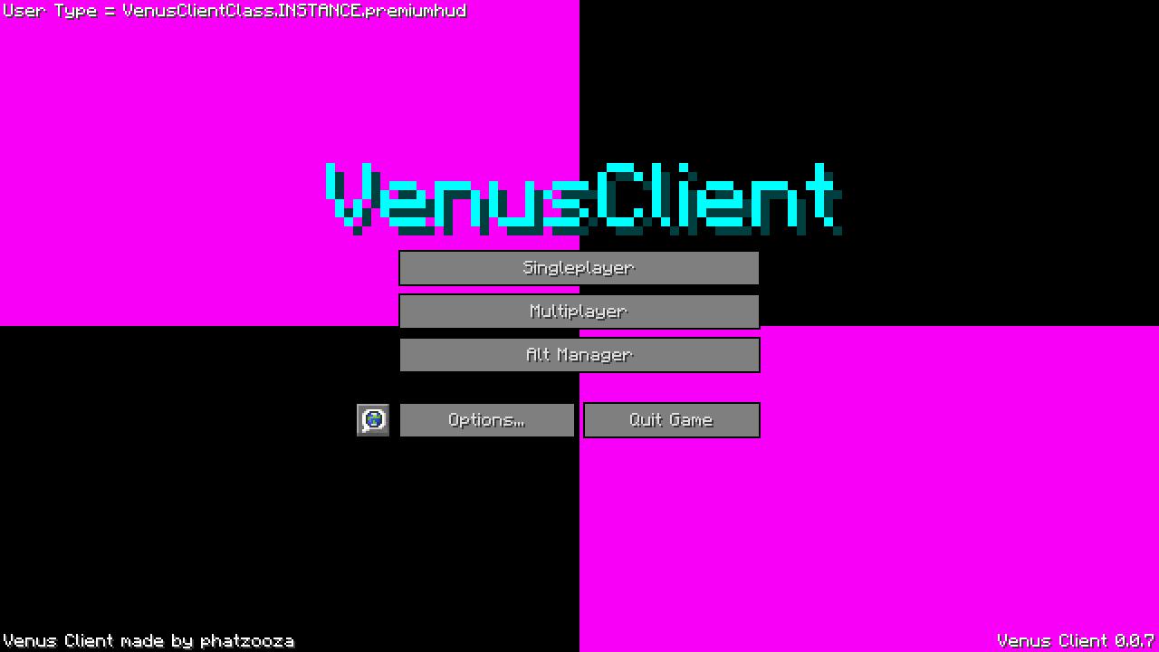 Чит VenusClient на Майнкрафт 1.8.8